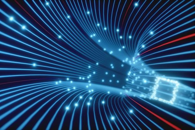 光ファイバーネットワークのラインの抽象的な背景