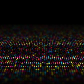 マルチカラーのテクノドットの抽象的な背景