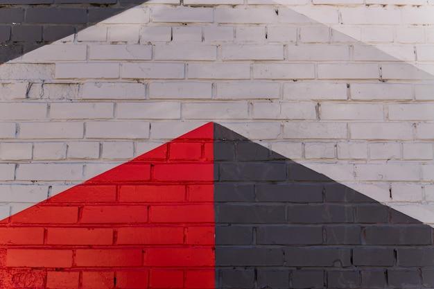 여러 벽돌 벽의 추상적인 배경입니다. 외관 디자인,