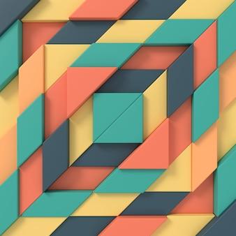 長方形の抽象的な背景。 3dレンダリング。