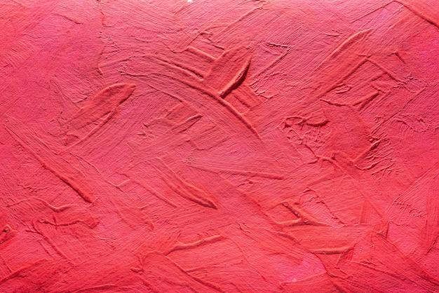 아크릴 물감에서 붉은 색의 추상적인 배경입니다. 콘크리트 배경입니다.