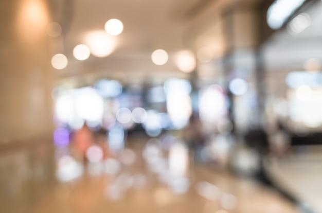 ショッピングモールの抽象的な背景、焦点深度が浅い。