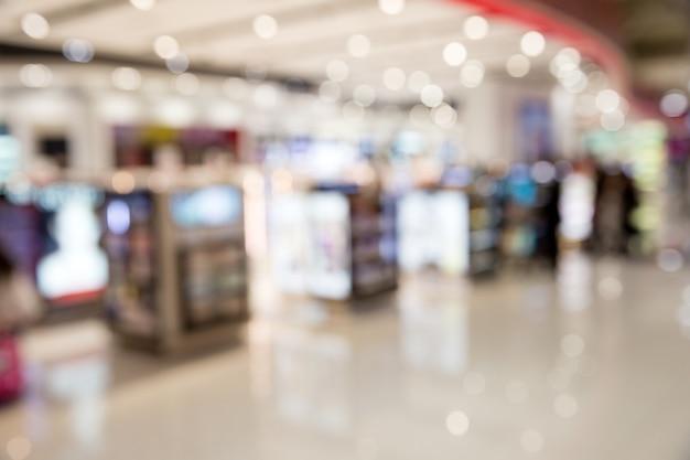 쇼핑몰, 초점의 얕은 깊이의 추상적인 배경.
