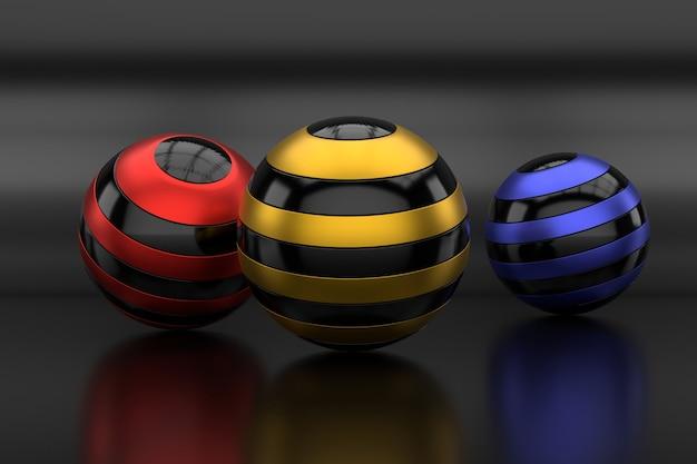 球形の抽象的な背景。 3dレンダリング。