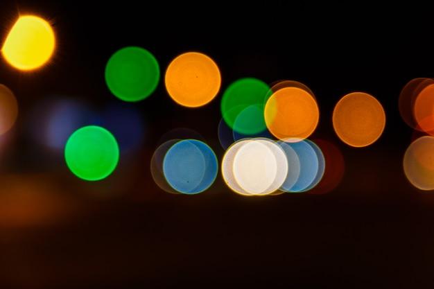 Абстрактный фон затуманенное огни большого города