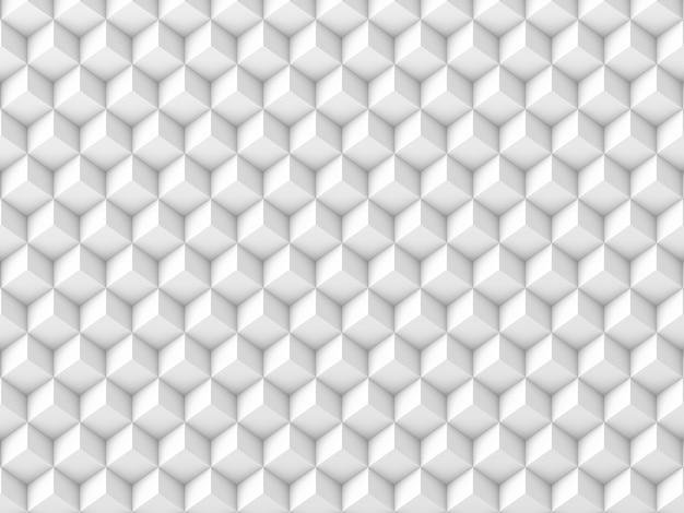 Абстрактный фон из белых кубиков. 3d визуализация.