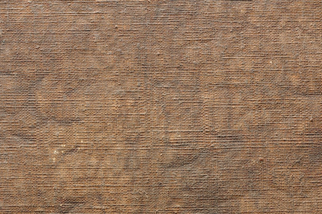Abstract background of old canvas for painting. closeup topview texture.