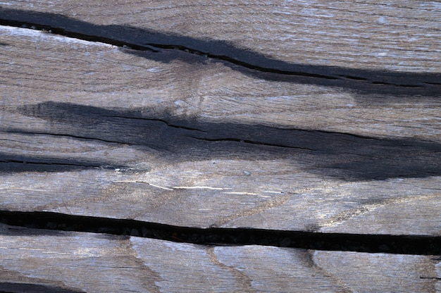 The abstract background of the old wooden surface is wet after rain. closeup topview
