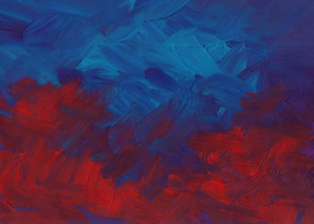 Абстрактная фоновая живопись, темно-красные, синие и фиолетовые мазки на бумаге