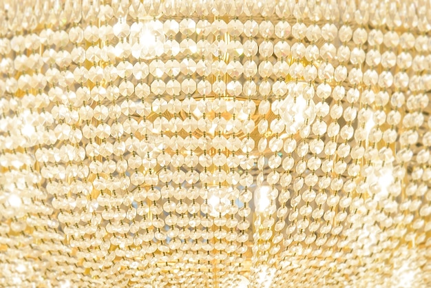 Abstract background of pendants on the chandelier