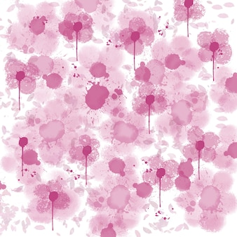 추상적 인 배경 핑크 꽃 흰색 배경에 헐떡 거리다