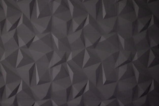 Abstract background of polygons on grey