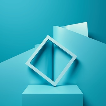 Abstract background for product presentation, podium display, minimal pastel scene, 3d rendering.