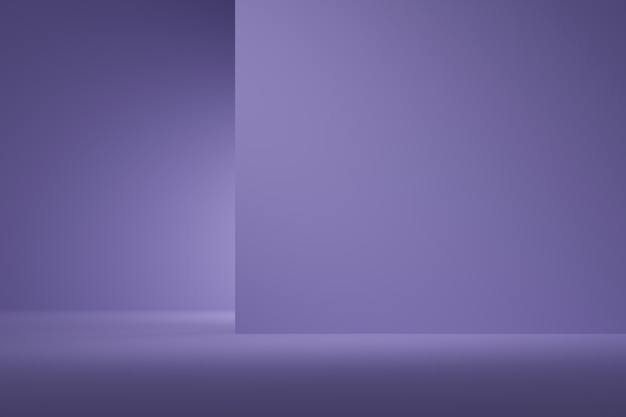 Abstract background purple color with spotlight for product. minimal concept. 3d rendering