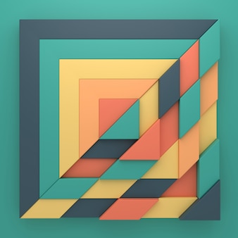 Abstract background of rectangle shape in 3d rendering