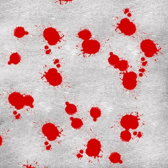 Abstract background red drop ink on concrete background