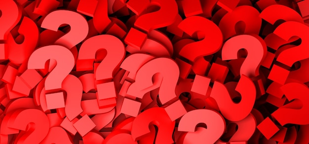 Abstract background of red question marks.
