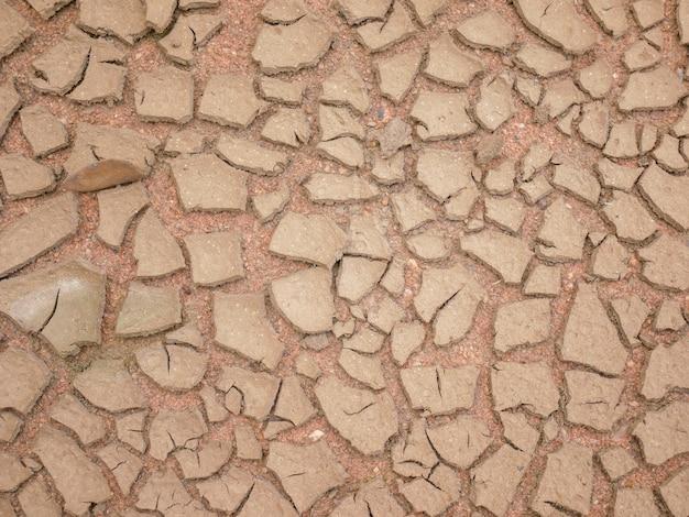 土壌の抽象的な背景の亀裂気候変動と干ばつの土地