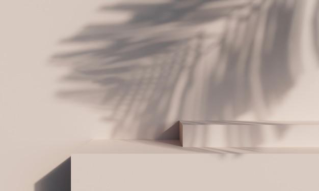 제품 디스플레이를 위한 추상적인 배경 장면입니다. 3d 렌더링