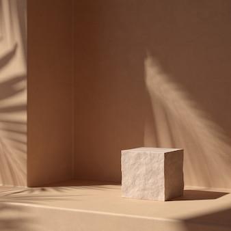 Абстрактная фоновая сцена для отображения продукта. 3d рендеринг