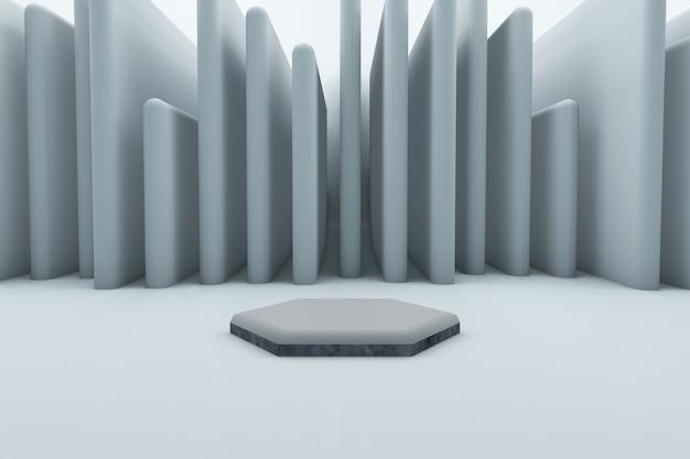 제품 디스플레이 렌더링을위한 추상 배경 장면
