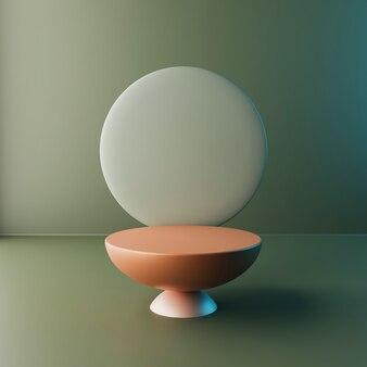 추상적인 배경, 제품 디스플레이를 위한 장면 형상 모양 연단. 3d 렌더링