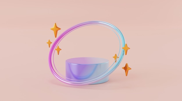 Abstract background scene for product display 3d rendering