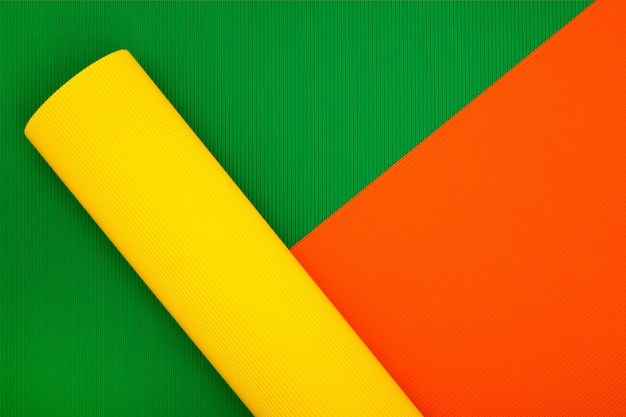 Abstract background of sheets of colored paper, for decoration, for text design, for template
