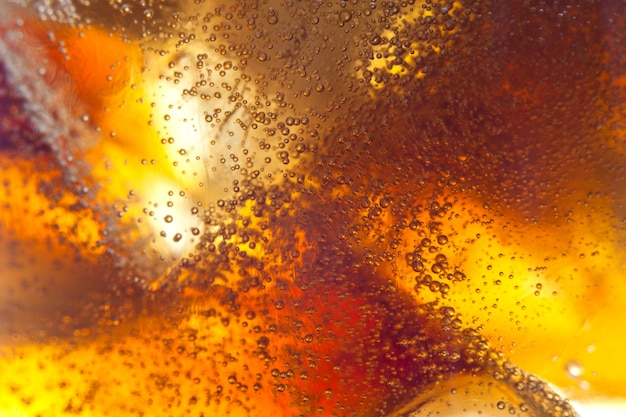 Abstract background of soft drink and ice
