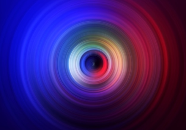 Abstract background of a spinning color circle.
