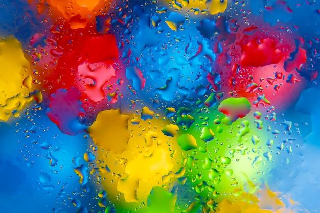 Абстрактный фон текстуры в виде размытых цветных круглых пятен