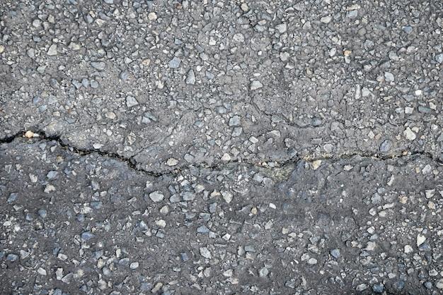 き裂を有する古い道路の抽象的な背景テクスチャ