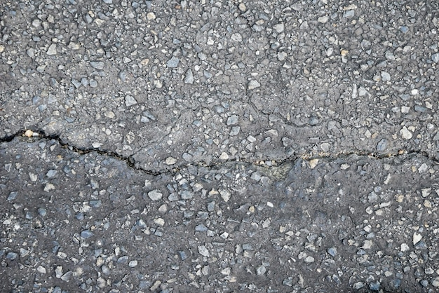 Abstract background texture of the old road with cracks