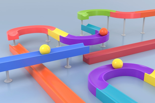 Abstract background of toy. 3d rendering.
