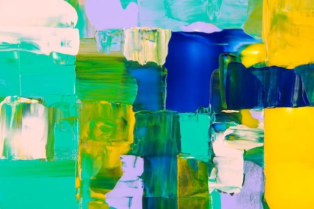 抽象的な背景の壁紙、混合明るいアクリル絵の具の質感