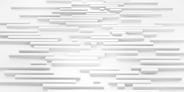 Abstract background white matt square bars on white background 3d illustration
