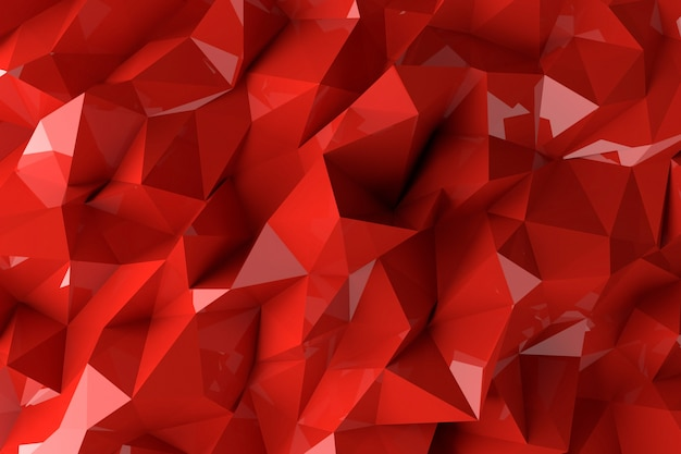 Abstract background with 3d shapes