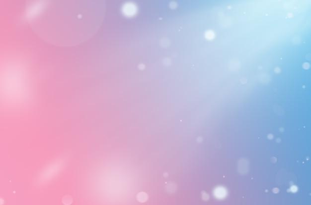입자가 있는 분홍색에서 파란색으로 그라데이션이 있는 추상 배경