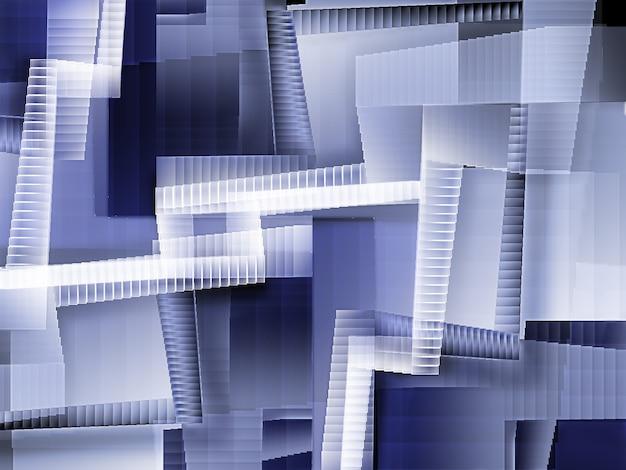 混沌とした階段がたくさんある抽象的な背景