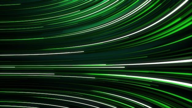 Абстрактный фон с анимацией перемещения линий для волоконно-оптической сети.