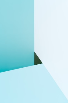 Abstract background with blue geometric shapes. modern and minimalist composition.triangle