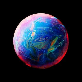 Абстрактный фон с голубой розовый и желтый шар
