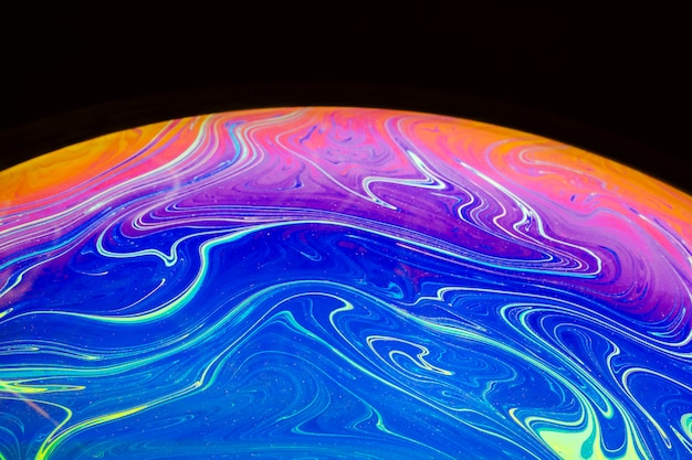 Abstract background with blue pink and orange sphere