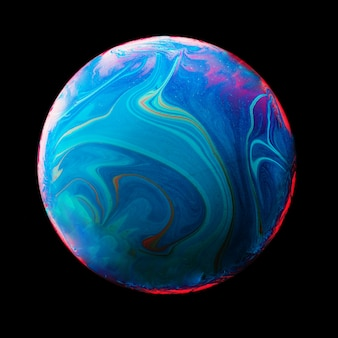 Abstract background with blue and pink sphere