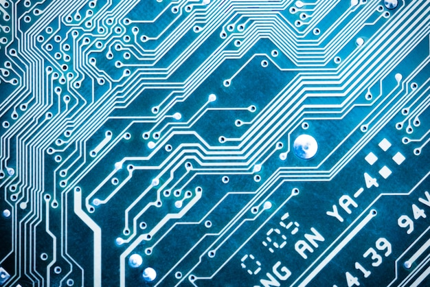 Abstract background with circuit board