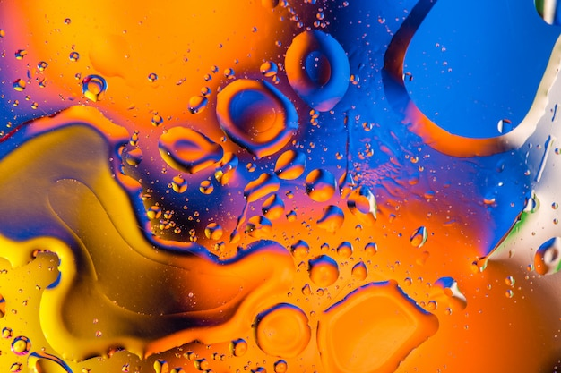 Abstract background with colorful gradient colors. oil drops in water abstract psychedelic pattern image.