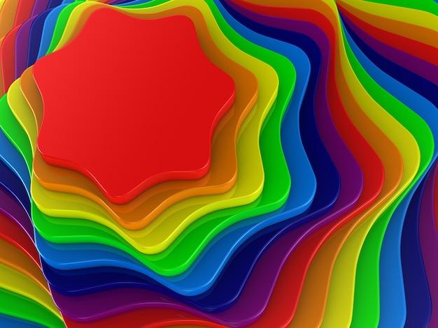カラフルな形の抽象的な背景