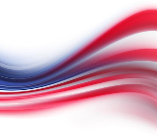 미국 국기의 색상으로 추상적인 배경
