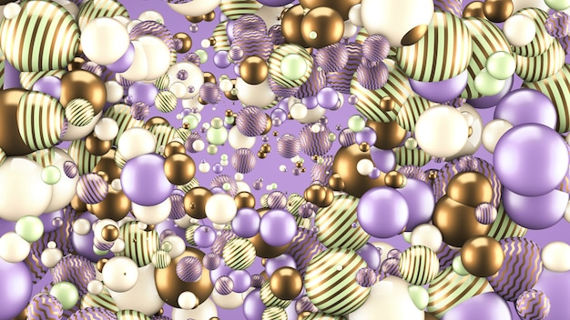 Abstract background with elements. 3d illustration, 3d rendering.