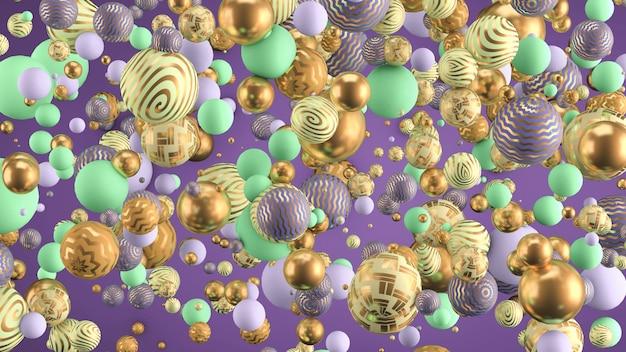 Абстрактный фон с элементами. 3d иллюстрации, 3d рендеринг.